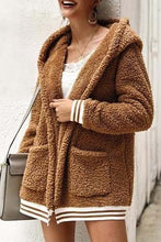 Cute Casual Winter Outfit Ideas for Women - Cozy Soft Sherpa Beige Sweater Jacket - www.GlamantiBeauty.com