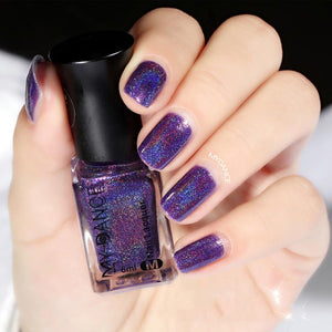 Nail Art Design 2018 - Holographic Nail Polish Laquer - www.GlamantiBeauty.com - Purple