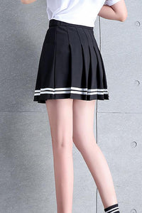 Cute Spring Summer Outfit Ideas Striped Pleated Tennis Skirt Y2K Fashion - www.GlamantiBeauty.com #outfits