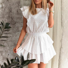 Loretta Cute Stripped Smock Ruffle Mini Dress