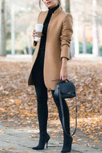 Classy Fall Outfit Ideas for Women - Elegant Peacoat Jacket in Camel - www.GlamantiBeauty.com #outfits