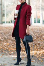 Classy Fall Outfit Ideas for Women - Elegant Peacoat Jacket in Red - www.GlamantiBeauty.com #outfits