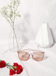 Elle Rose Clear Frame Sunnies at $ 28.00 only sold at And Well Dressed Online Fashion Store Singapore