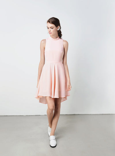 LAKE Button Back Dress (Blush) at $ 16.70 only sold at And Well Dressed Online Fashion Store Singapore