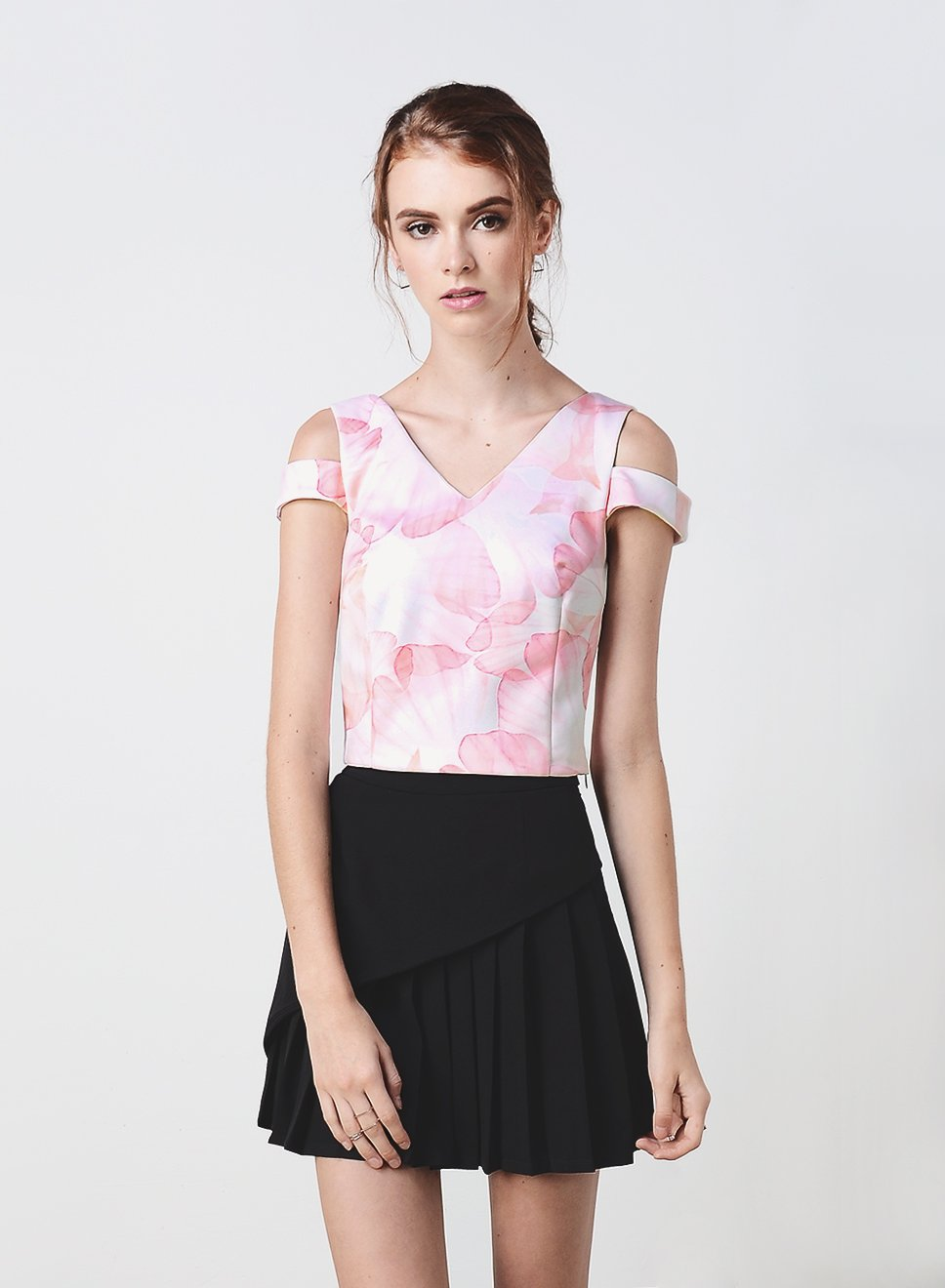 ROUX Double Strap Top (Blush Floral) at $ 15.00 only sold at And Well Dressed Online Fashion Store Singapore