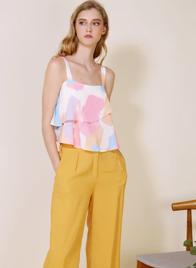 Dawn Double Tier Top (Warm) at $ 34.50 only sold at And Well Dressed Online Fashion Store Singapore