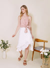 Daybreak Double Ruffled Skirt (White) at $ 38.00 only sold at And Well Dressed Online Fashion Store Singapore