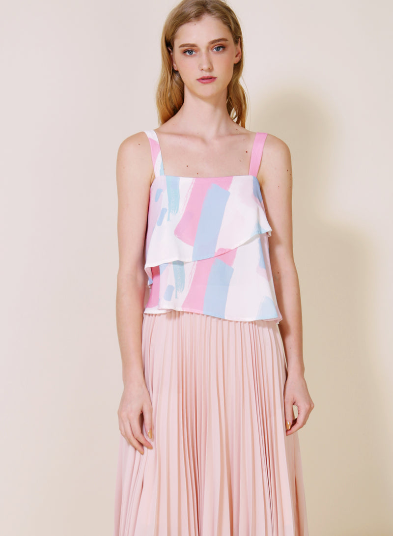 Dawn Double Tier Top (Cool) at $ 34.50 only sold at And Well Dressed Online Fashion Store Singapore