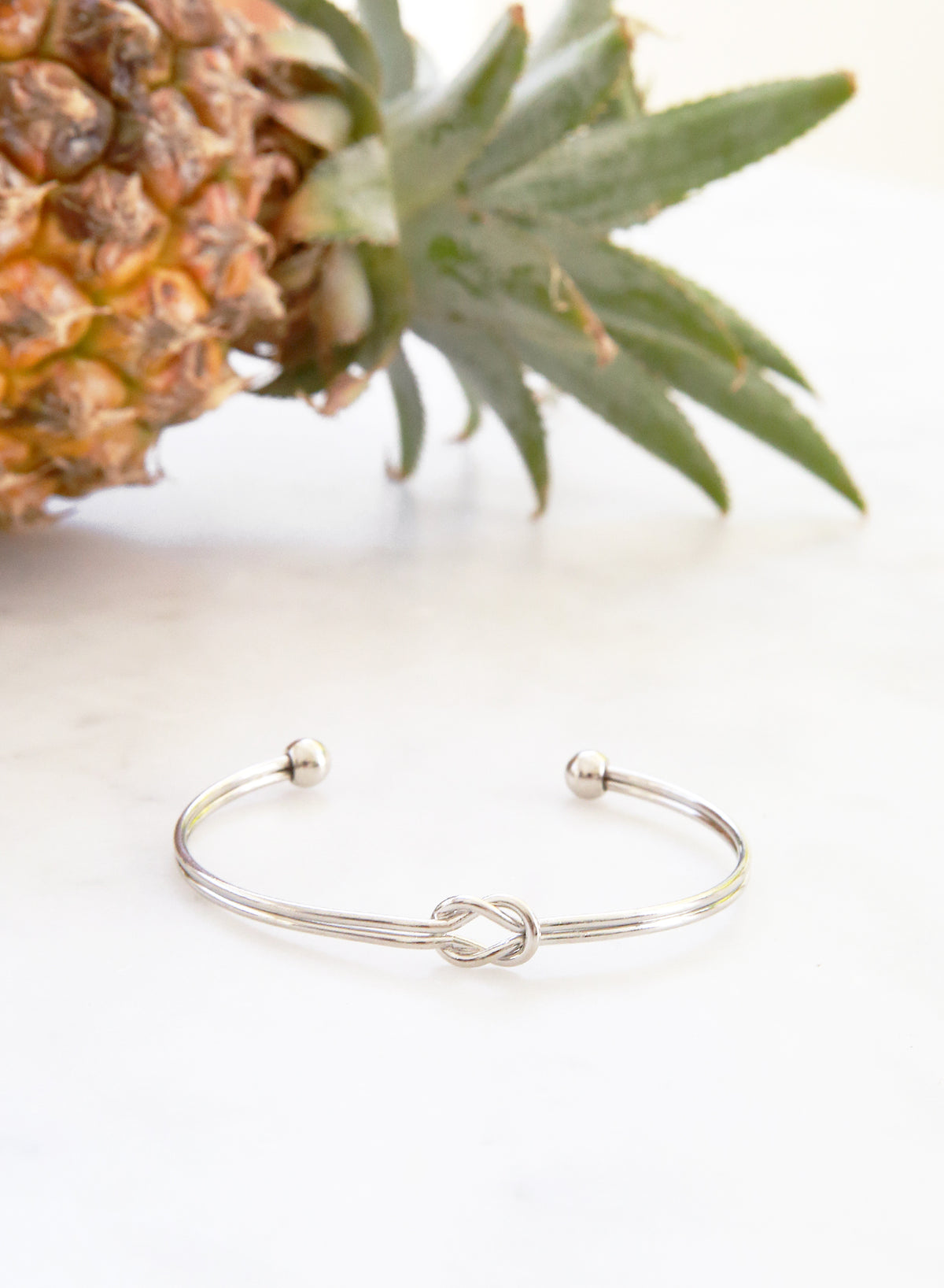 Nadie Double Knotted Cuff (Silver)