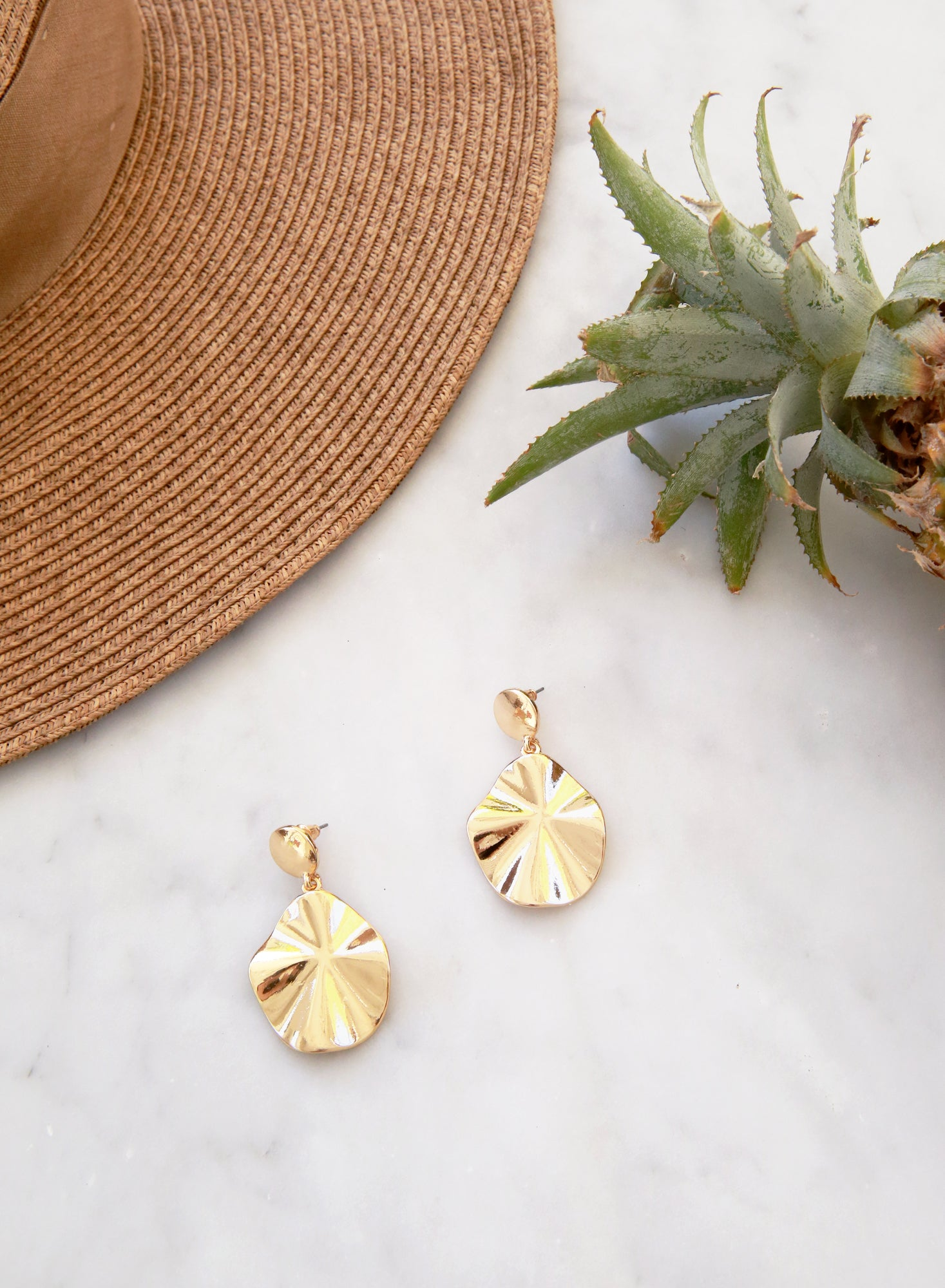 Parley Facade Gold Earrings at $18.00 only sold at And Well Dressed Online Fashion Store Singapore
