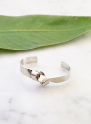 Parker Knotted Cuff (Silver) - And Well Dressed
