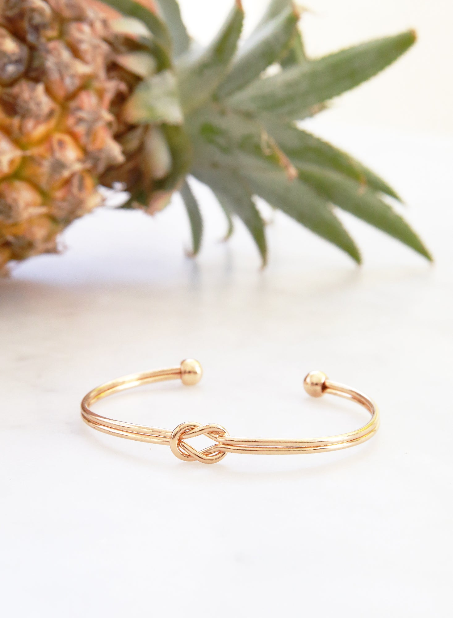 Nadie Double Knotted Cuff (Gold) - And Well Dressed