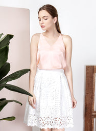 LUSTRE Silk Camisole (Peach) at $ 19.00 only sold at And Well Dressed Online Fashion Store Singapore