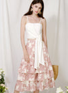 Charmed Ruffle Tiers Skirt (Blush Floral) at $ 39.50 only sold at And Well Dressed Online Fashion Store Singapore
