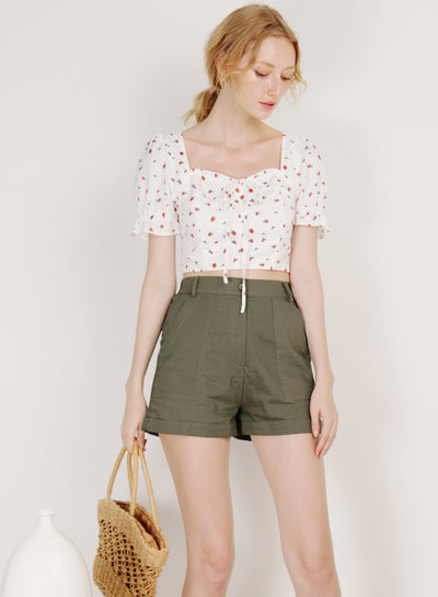 Dream Puff Sleeves Top (Strawberry)