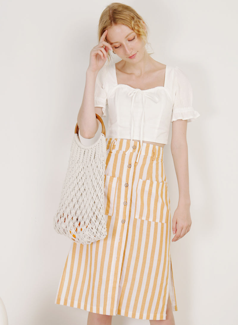 Dream Puff Sleeves Top (White)