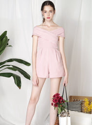 PERCEPTION Cross Front Romper (Mauve) - And Well Dressed