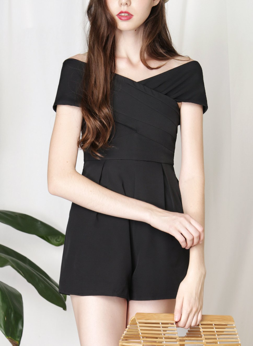 PERCEPTION Cross Front Romper (Black) - And Well Dressed