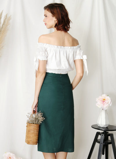 Folklore Off Shoulder Top (White) - And Well Dressed