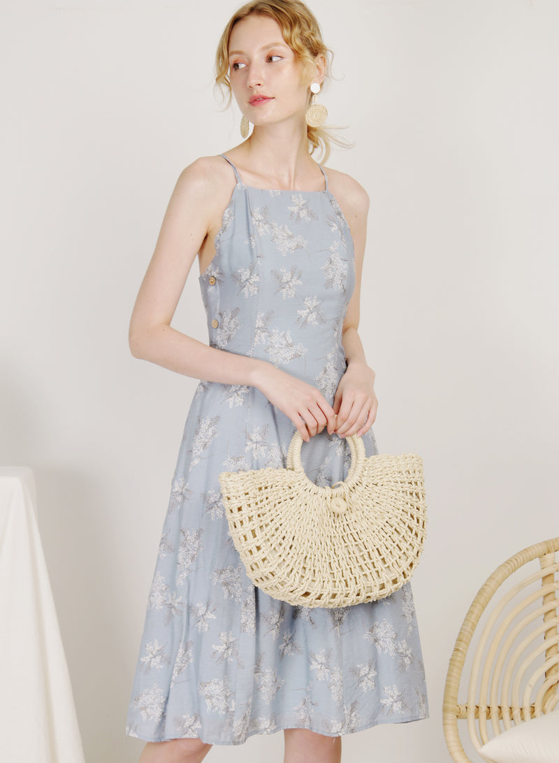 Coast Scalloped Edge Buttoned Dress (Floral)