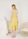 Freedom Button Front Midi Dress (Limoncello)