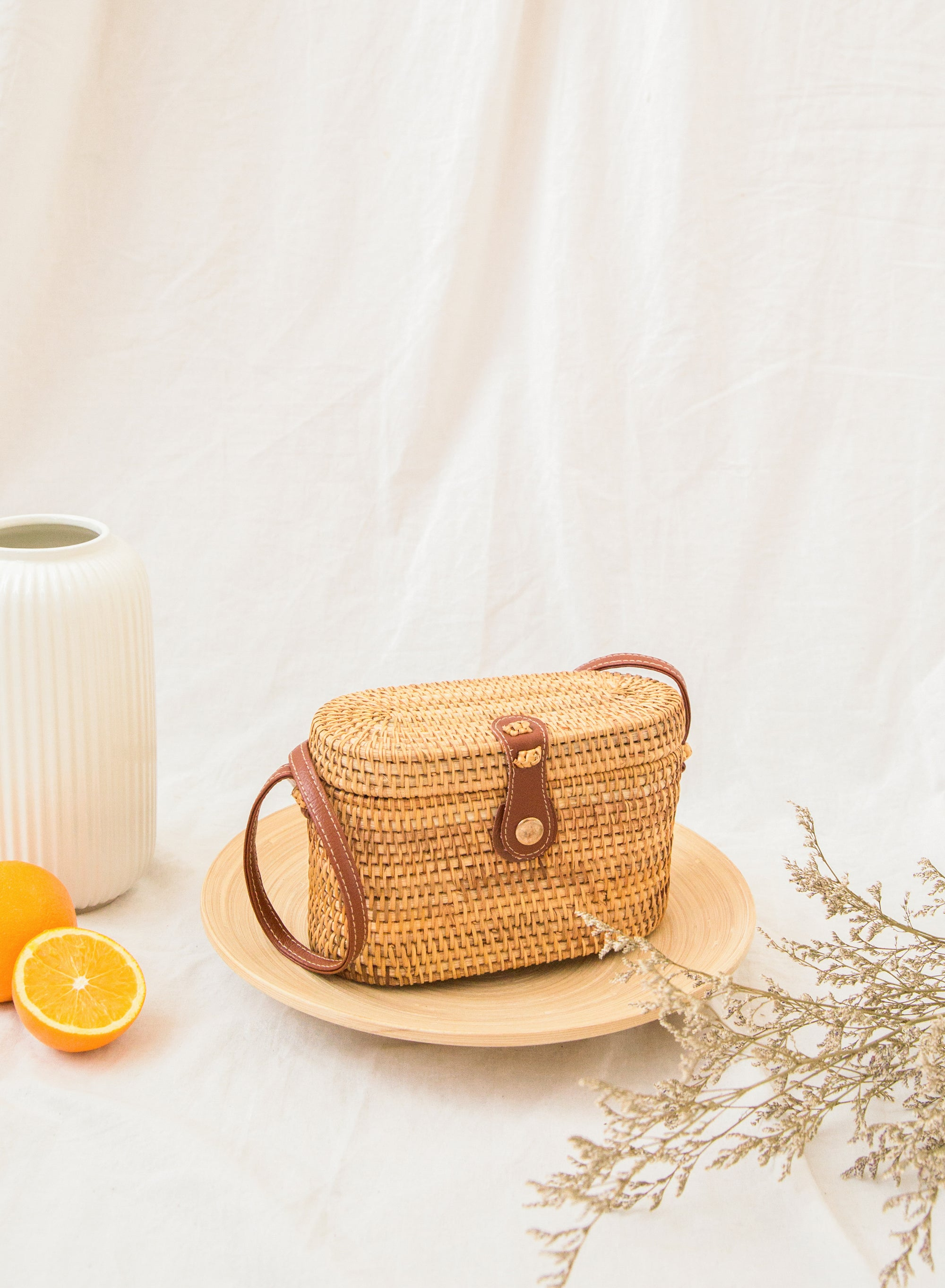 Rayner Oval Wicker Bag