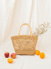 Avery Open Weave Square Tote (Natural)