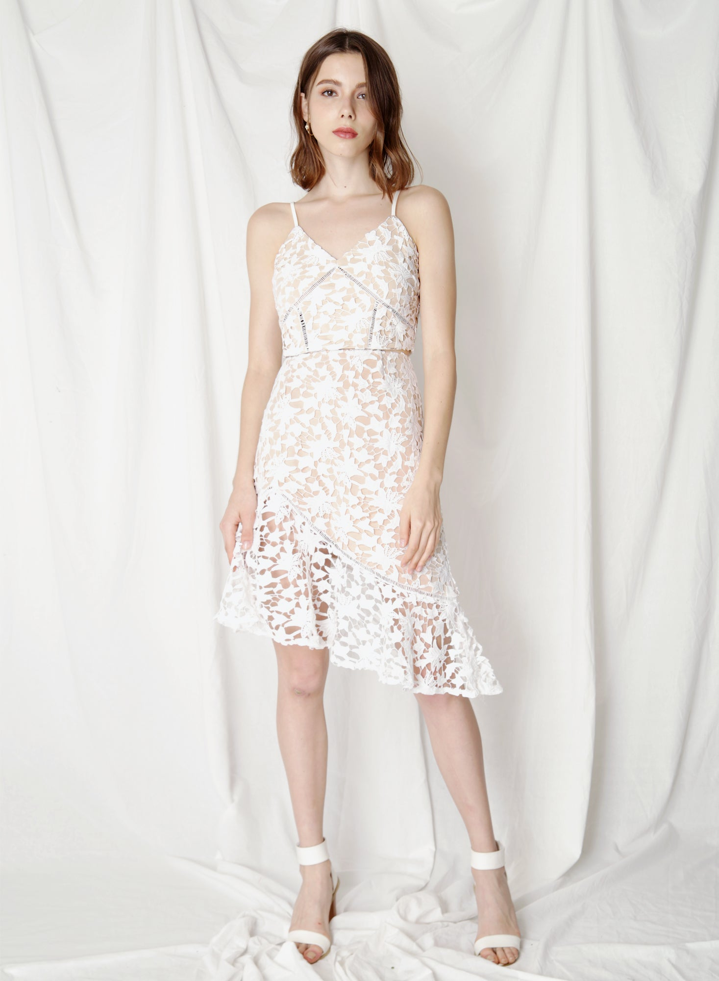 Promise Crochet Lace Bustier (White) - And Well Dressed