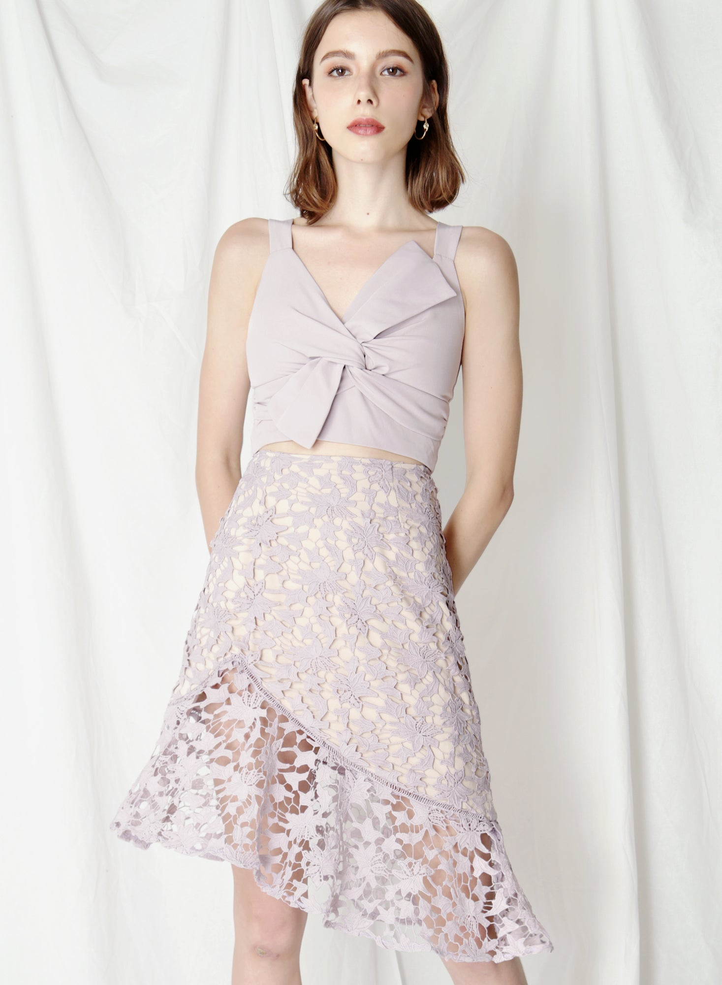 Oath Crochet Lace Skirt (Lilac) at $38.00 only sold at And Well Dressed Online Fashion Store Singapore
