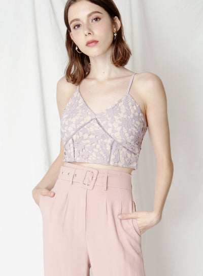 Promise Crochet Lace Bustier (Lilac) - And Well Dressed