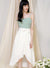 Memory Contrast Wrap Hem Dress (Jade/White) at $ 43.50 only sold at And Well Dressed Online Fashion Store Singapore