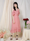 Wistful Double Hem Eyelet Skirt (Rose) at $ 38.50 only sold at And Well Dressed Online Fashion Store Singapore