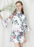 Moonlight Ruffle Sleeves Floral Dress (White)