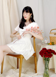 Mirth Broderie Flared Dress (White) at $ 42.50 only sold at And Well Dressed Online Fashion Store Singapore