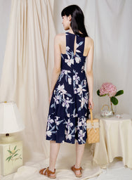 Euphoric Tiered Hem Dress (Navy Floral) at $ 45.00 only sold at And Well Dressed Online Fashion Store Singapore