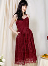 Splendour Lace Midi Dress (Wine) at $ 48.00 only sold at And Well Dressed Online Fashion Store Singapore