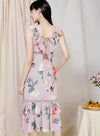 Entice Double Hem Floral Dress (Lilac Taupe) at $ 46.00 only sold at And Well Dressed Online Fashion Store Singapore