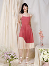 Eternity Tie Back Pleated Dress (Rose/Sand) at $ 45.00 only sold at And Well Dressed Online Fashion Store Singapore