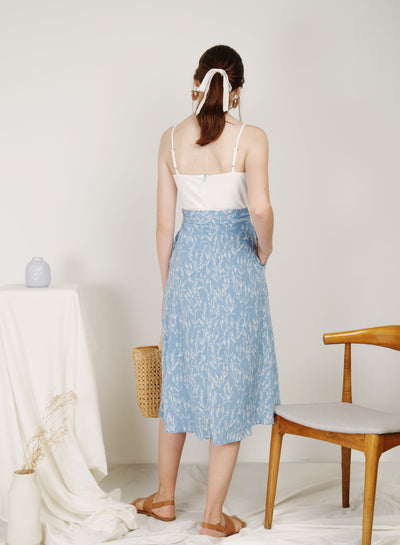Poetic Contrast Wrap Hem Dress (Blue) at $ 45.00 only sold at And Well Dressed Online Fashion Store Singapore