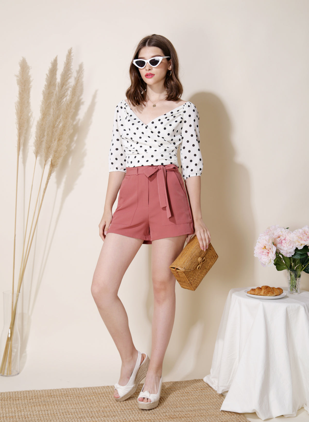 Trove Pocket Front Shorts (Dusty Rose)