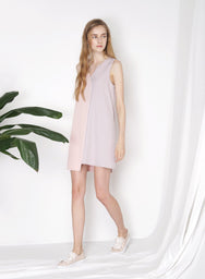 PENCHANT Two Tone Dress (Mauve) - And Well Dressed