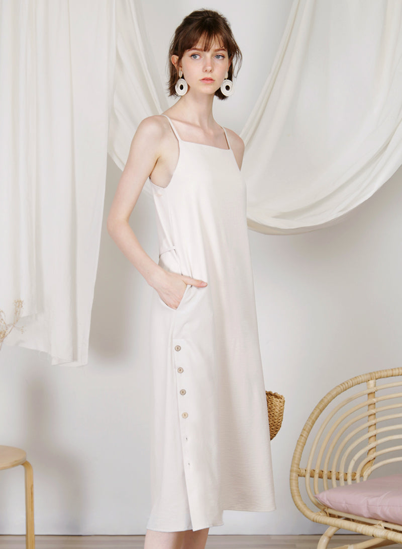 Sanctuary Button Sides Dress (Ecru) at $ 48.00 only sold at And Well Dressed Online Fashion Store Singapore