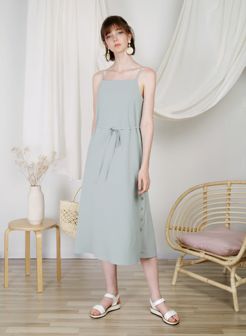 Sanctuary Button Sides Dress (Sage) at $ 48.00 only sold at And Well Dressed Online Fashion Store Singapore