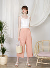 Journey Flared Linen Pants (Sorbet)