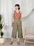 Journey Flared Linen Pants (Olive)