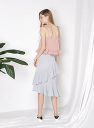 FESTIVAL Frill Hem Top (Blush) - And Well Dressed