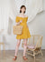 Jovial Off Shoulder Button Down Dress (Honey)