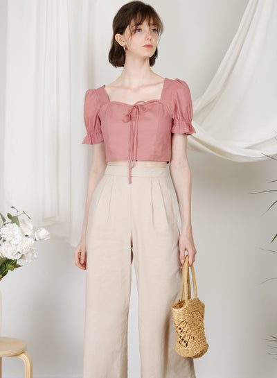 Dream Puff Sleeves Top (Rose) at $ 38.00 only sold at And Well Dressed Online Fashion Store Singapore