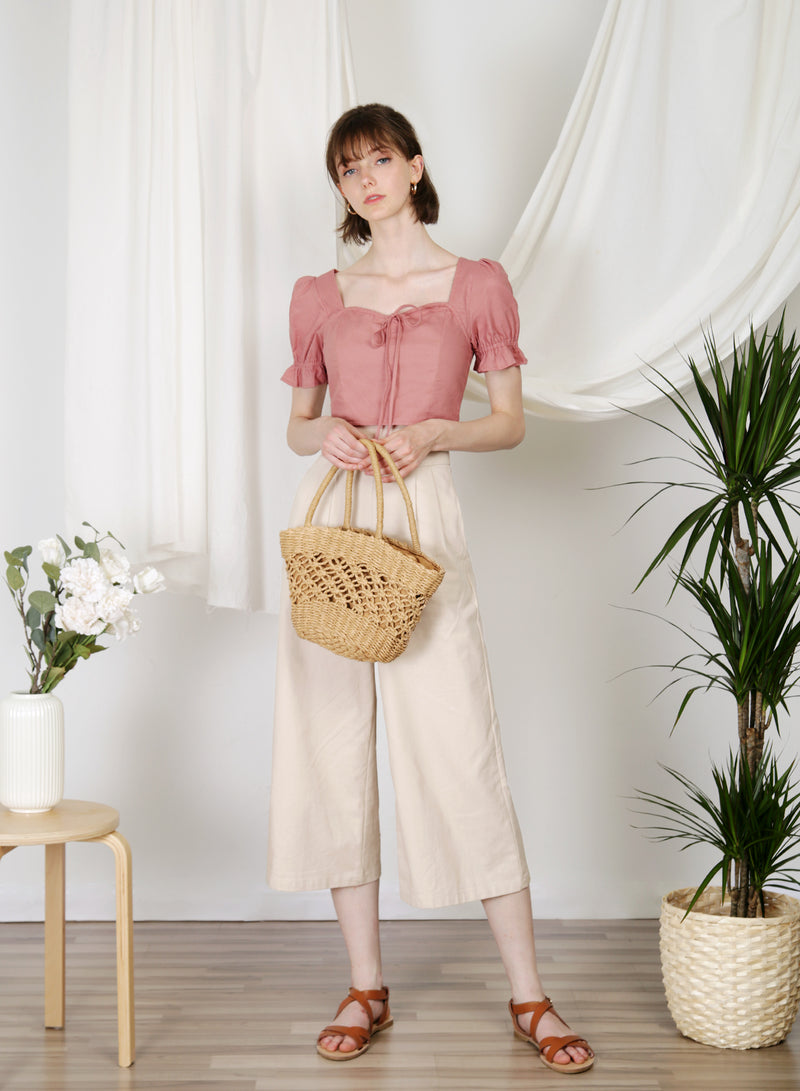 Dream Puff Sleeves Top (Rose)