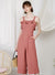 Enlighten Frill Hem Jumpsuit (Dusk Rose)